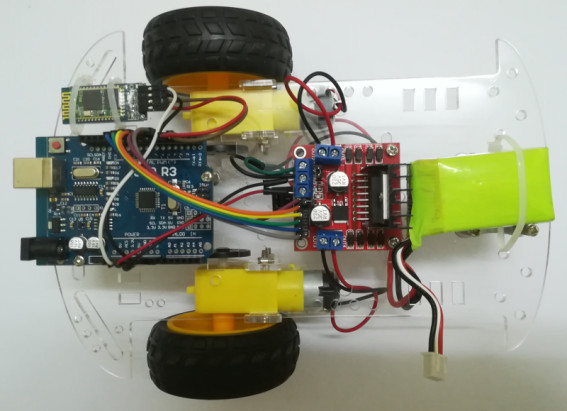 GI Electronic 2WD Smart Robot Car assembled